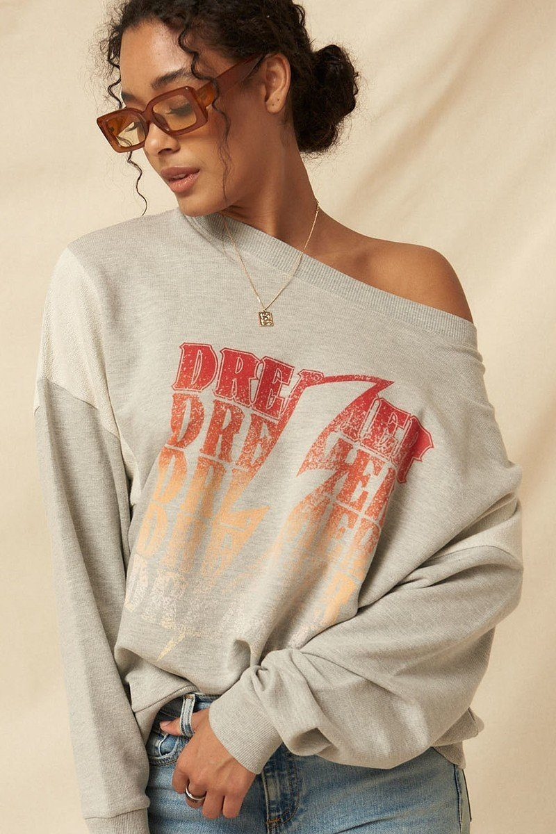 DREAMER French Terry Knit Graphic Sweatshirt