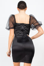 Load image into Gallery viewer, ELASIA Lace Sleeves Back Zipped Dress