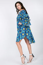 Load image into Gallery viewer, HILLARY Off Shoulder Print Midi Dress