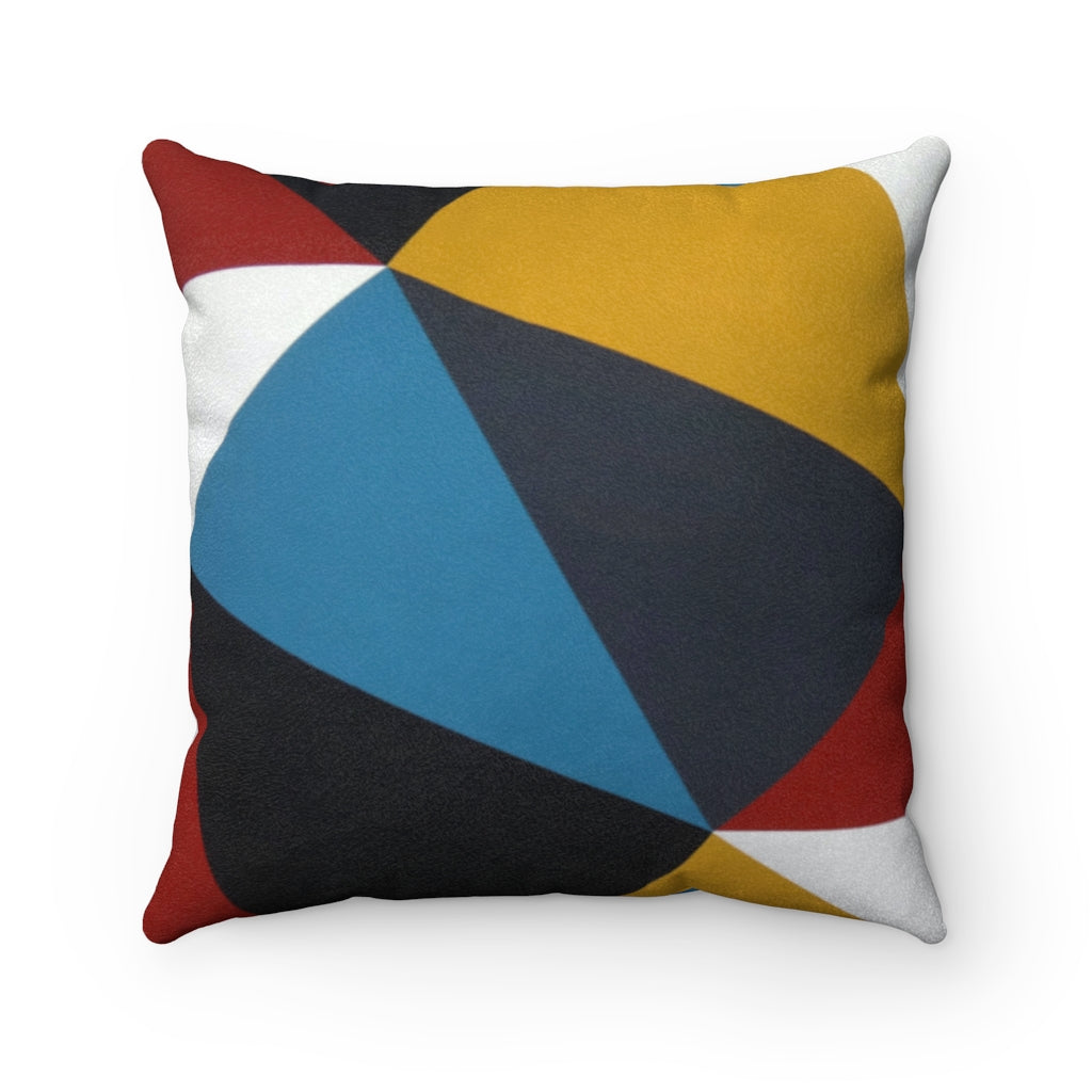 GEO Faux Suede Pillow