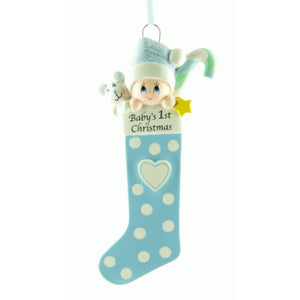 Baby Long Blue Stocking