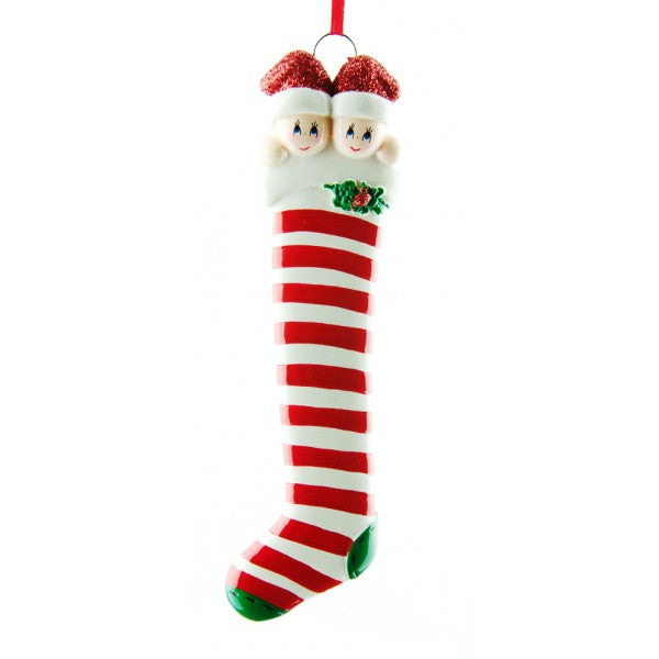 Candy Cane Stocking Couple
