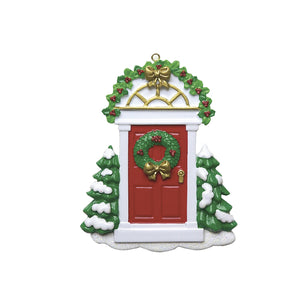 Red Door Personalised Christmas Decoration