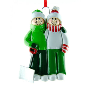 Snow Shovel Couple