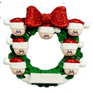 Button Wreath Family 7