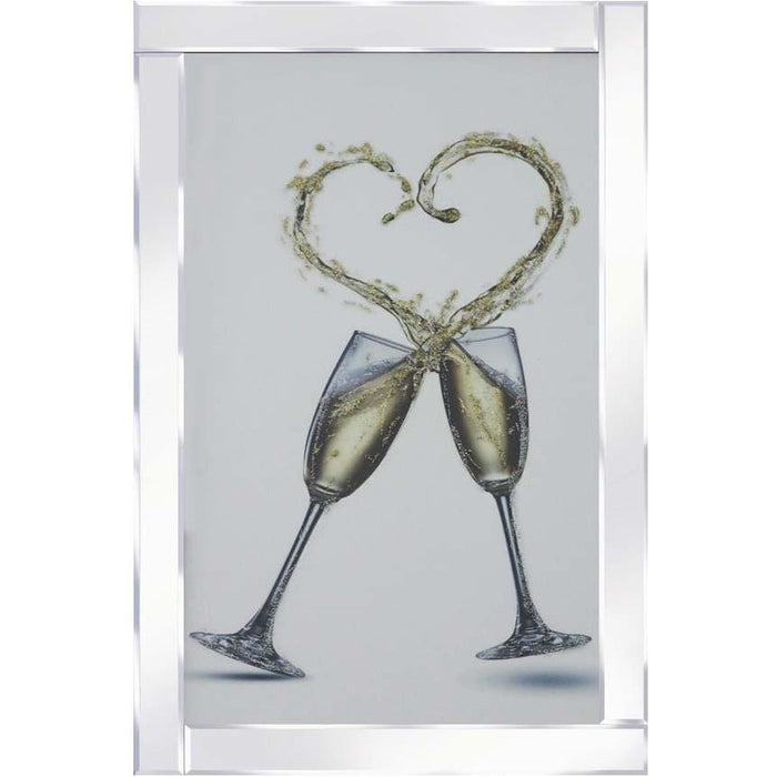 Champagne Glasses Heart Splash