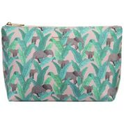 Elephant Vegan Leather Small Make-Up Bag