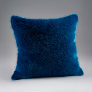Bluestone Faux Fur Cushion