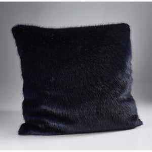 London Navy Faux Fur Cushion