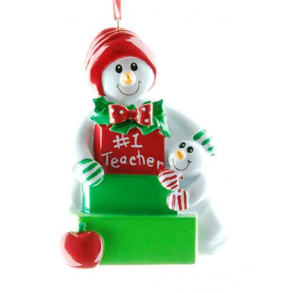 Snow Teacher Decoration