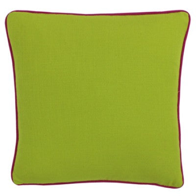 Lime Cushion with Fushia Trim
