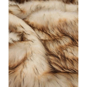Cream Reynard Faux Fur Throw