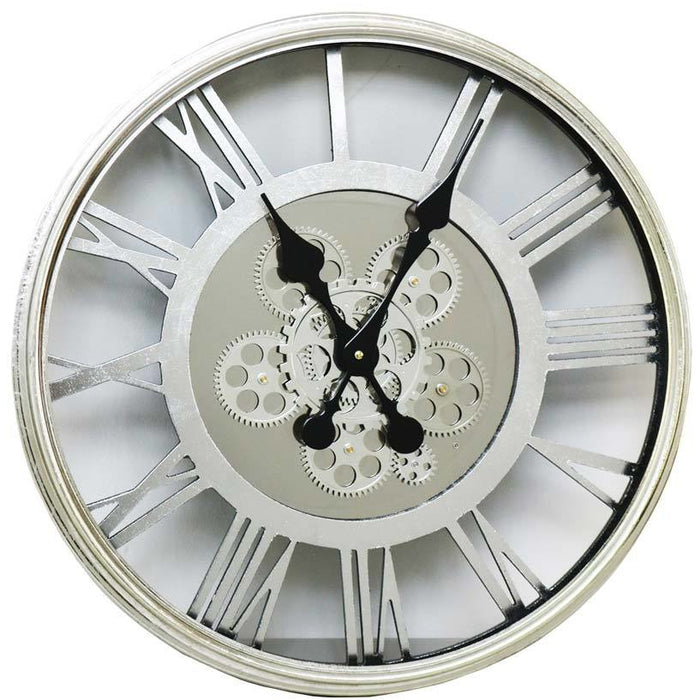 Roman Numeral Round Cog Wall Clock
