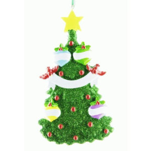 Green Christmas Tree Family 4