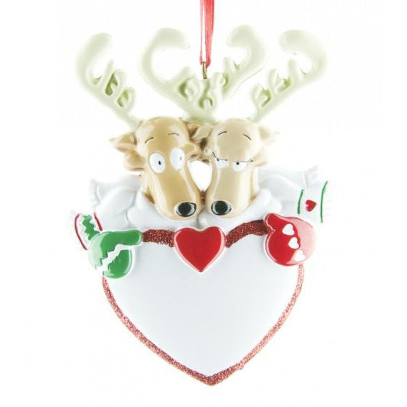 Reindeer Couple with Heart