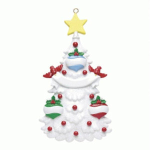 White ChristmasTree Family 3