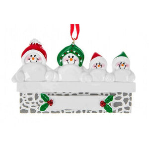Snowman on Mantle Family 4