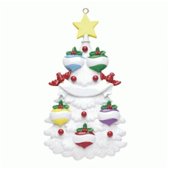 White Christmas Tree Family 5