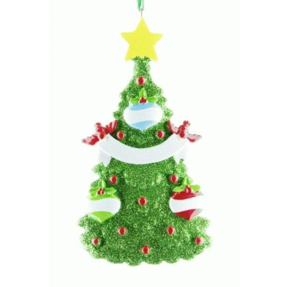 Green Christmas Tree Family 3