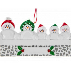 Snowman on Mantle Family 5