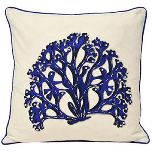 Coral Cushion - Indigo