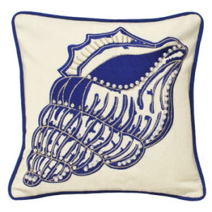 Shell Cushion - Indigo