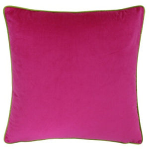 Large Velour Scatter Cushion - Hot Pink/Lime