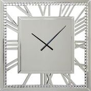 Large Mirrored Crystal Clock