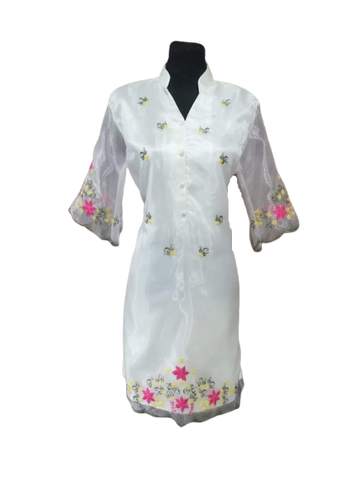 Floral White Barong Dress Sale