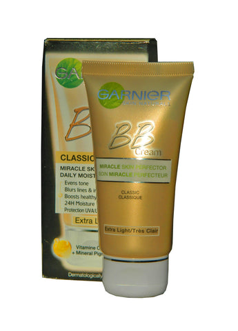 Garnier Classic Miracle Skin Perfector Dailly Moisturiser BB Cream Light 50ml