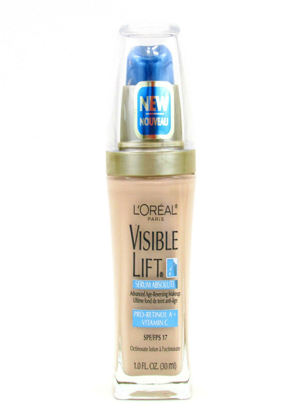 L'Oreal Visible Lift Serum Absolute Liquid Age Reversing Makeup SPF 17 #143 Soft Ivory