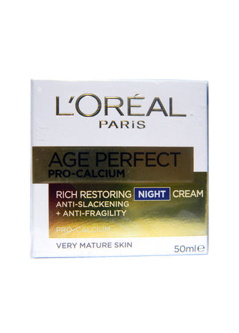 L'Oreal Age Perfect Pro Calcium Rich Restoring Night Cream 50ml