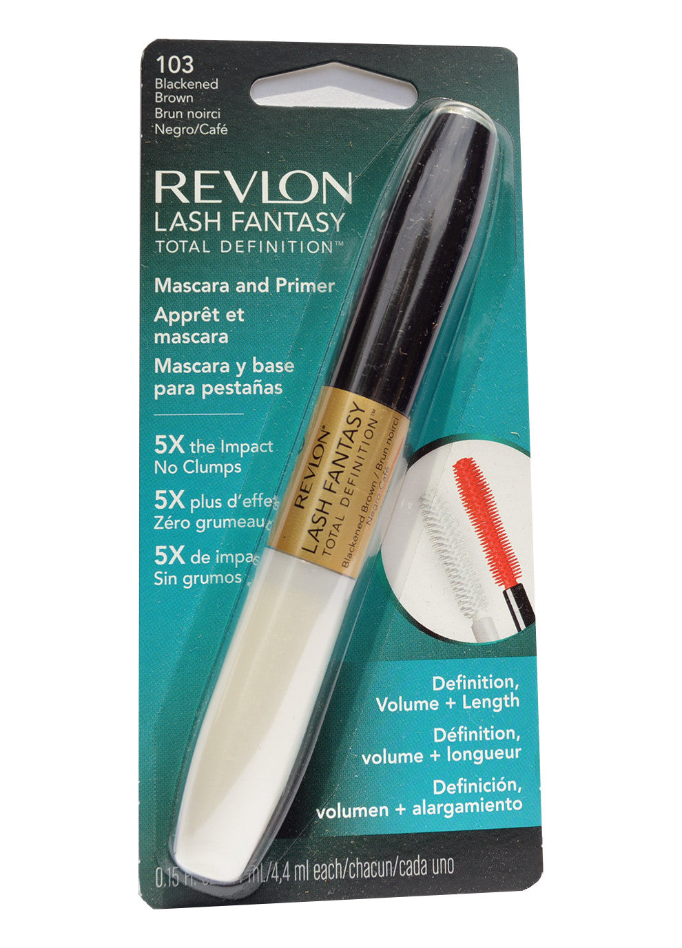 Revlon LASH FANTASY TOTAL DEFINITION Mascara and Primer #103 Blackened Brown