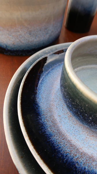 Ceramic Cylinder Cereal Bowl in Galaxy Glaze