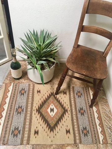 Oaxacan Throw Rug Classic Natural Dye