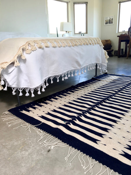 Indigo and Natural Oaxacan Area Rug