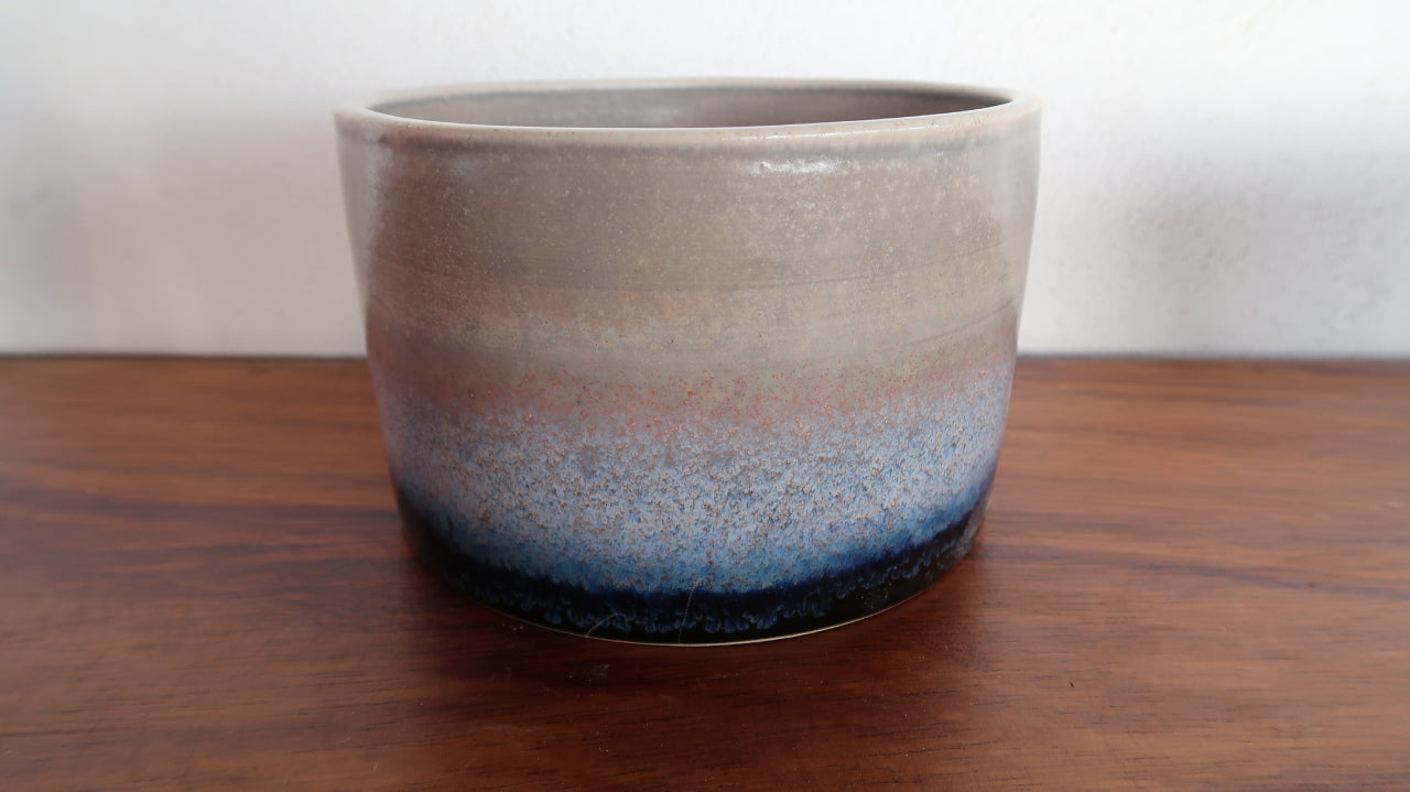 Ceramic Cylinder Salad Bowl in Galaxy Glaze