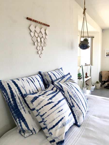Indigo Shibori Pillow 20 x 20