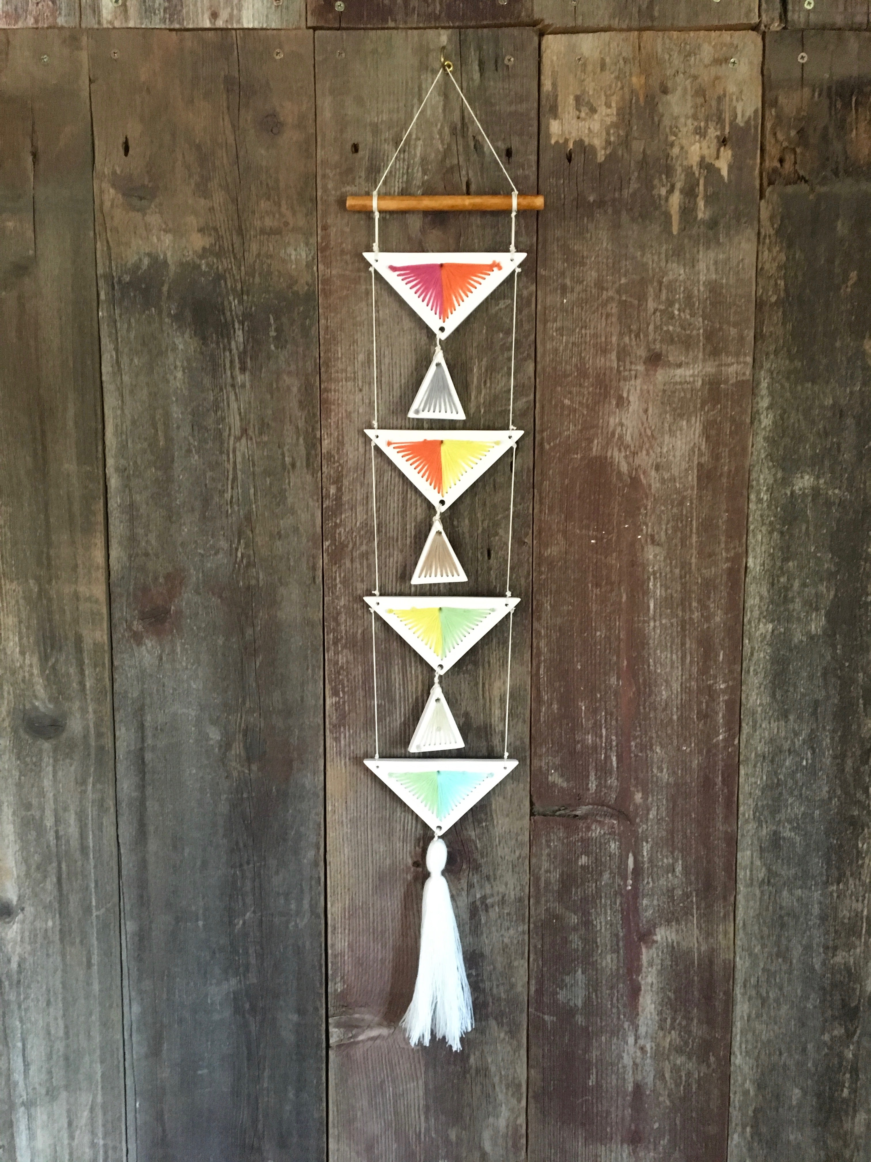Yarn and Resin Wall Hanging
