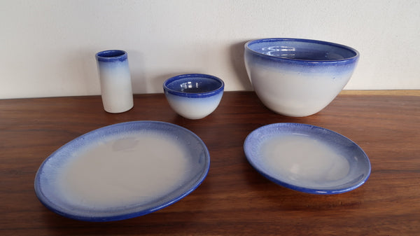 Ceramic Round Cereal Bowl in Sky Glaze
