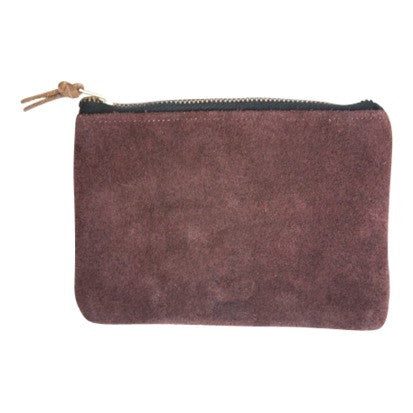 Huipil Pouch with Suede Back