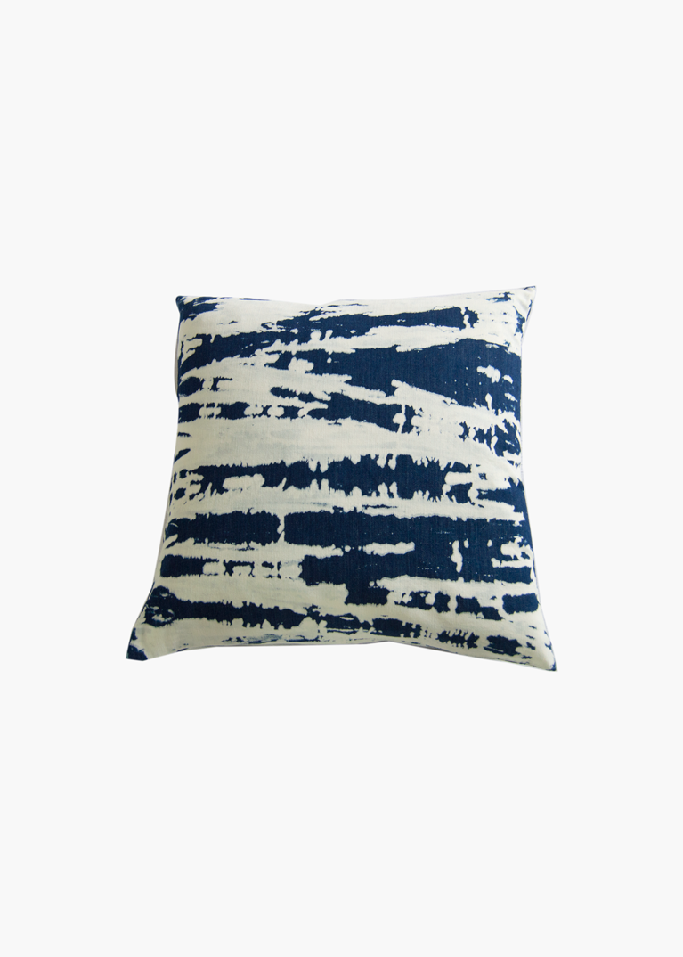 Denim Bleached Tie Dye Pillow 20 x 20
