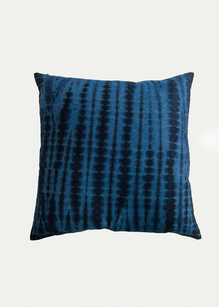 Dark Indigo Shibori Pillow 20 x 20