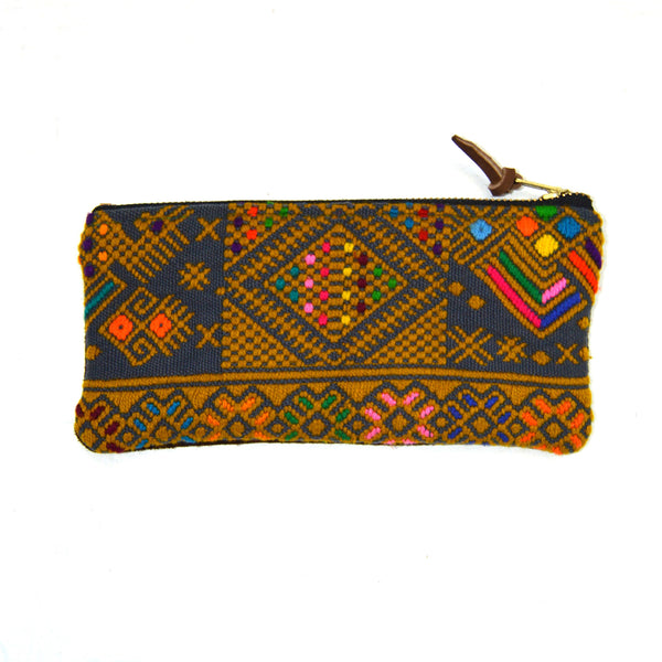 Huipil Wallet with Suede Back