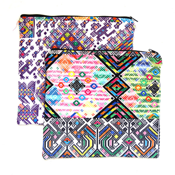 Huipil Large Clutch or ipad Case