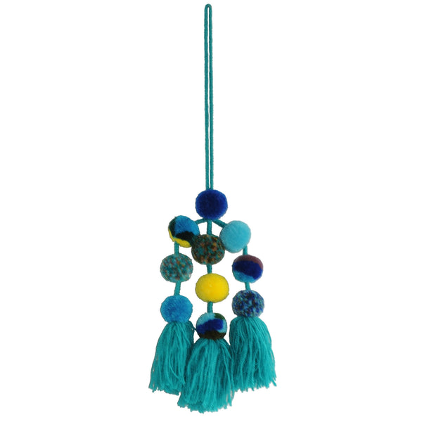 Large Pompom Cluster - Assorted Blues and Greens