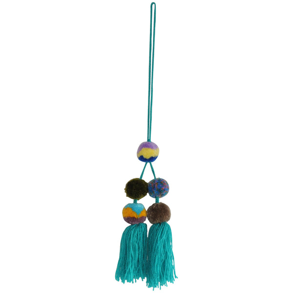 Pompom Cluster - Medium Assorted Blues and Greens