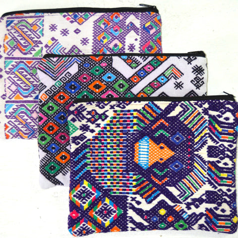 Huipil Clutch - Assorted Purples