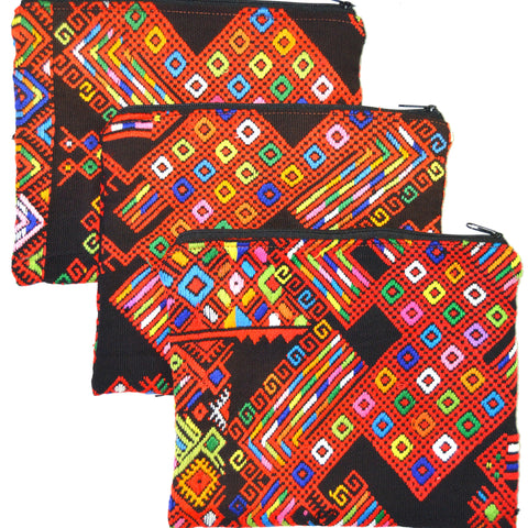 Huipil Clutch - Assorted Reds