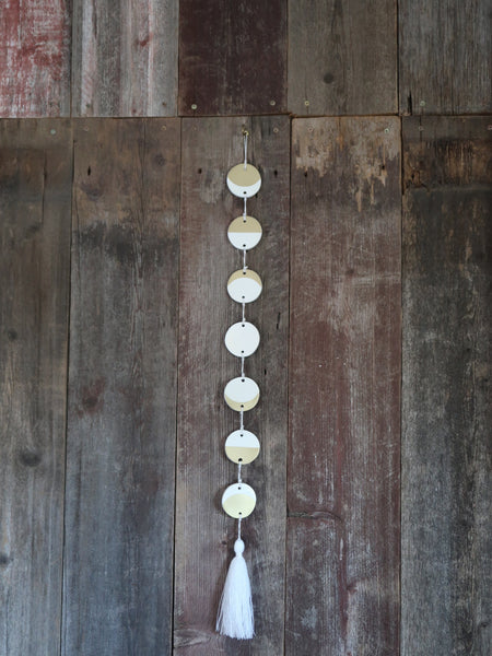 Mini Moon Phase Wall Resin Hanging with Tassel